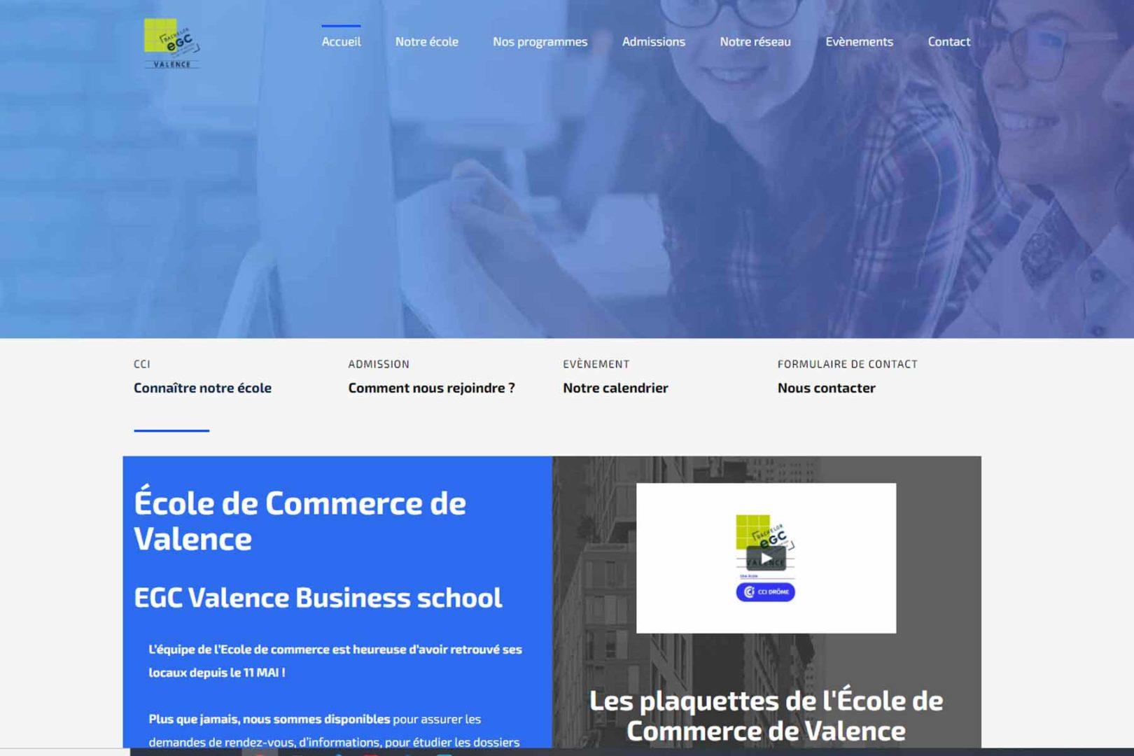 Réalisation Site internet egc2607.fr