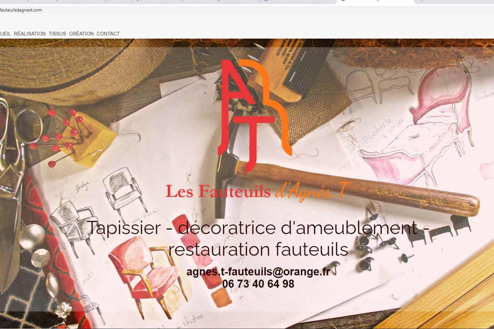 Réalisation Site internet lesfauteuilsdagnest.com