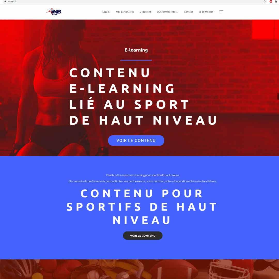 Réalisation Site internet insperf.fr