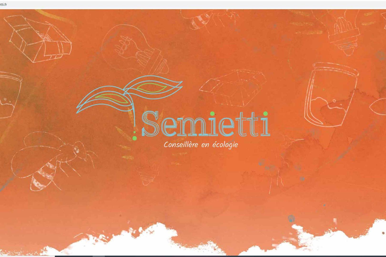 Réalisation Site internet semietti.fr